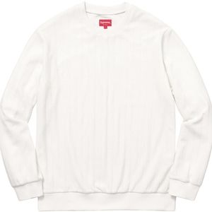 Supreme Ribbed Velour Crewneck Sweatshirt